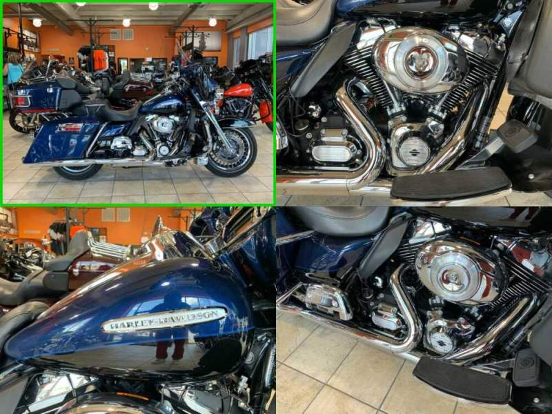 2012 Harley-Davidson Touring Electra Glide Ultra Limited Two-tone Big Blue Pearl / Vivid Black for sale