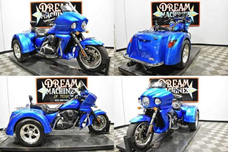 2012 Kawasaki Vulcan 1700 Vaquero Trike Blue for sale