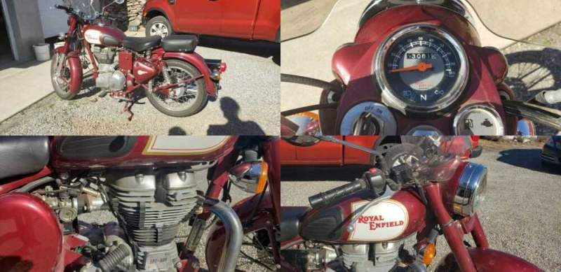 2012 Royal Enfield Classic 500 Red for sale craigslist photo