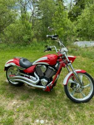 2012 Victory Jackpot Premium Red & White Scallops Custom for sale craigslist photo
