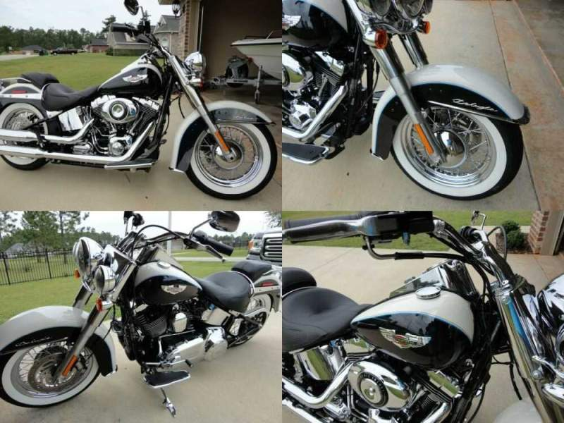 2013 Harley-Davidson Softail Birch White/Midnight Pearl for sale craigslist photo