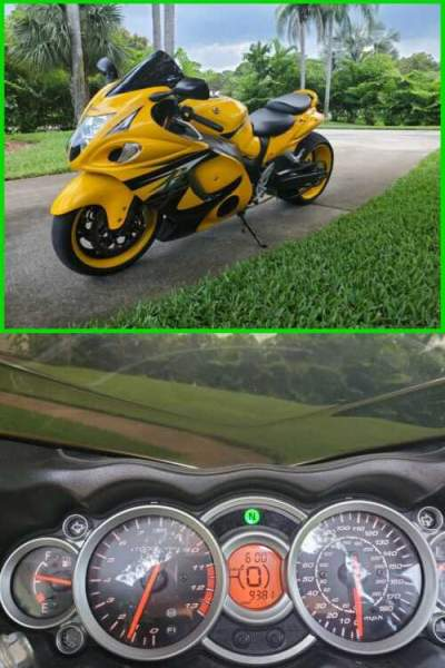 2013 Suzuki Hayabusa GSX1300R Yellow/Black for sale craigslist