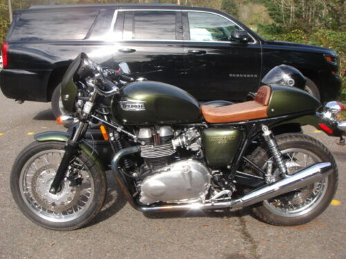2013 Triumph Thruxton Brooklands Green for sale craigslist photo