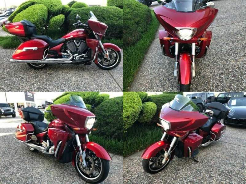 2013 Victory Cross Country Tour Red for sale craigslist photo