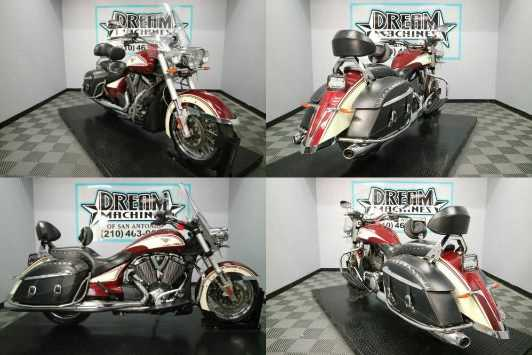 2013 Victory Cross Roads Classic Burgundy  Khaki W Graphics Burgundy for sale craigslist photo