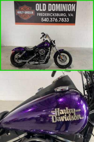 2014 Harley-Davidson Dyna Street Bob Hard Candy Voodoo Purple Flake for sale
