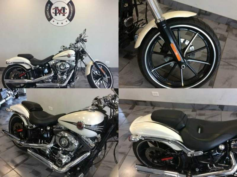 2014 Harley-Davidson FXSB BREAKOUT White for sale craigslist