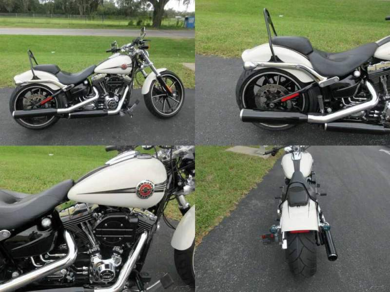 2014 Harley-Davidson Softail Breakout® White for sale craigslist photo