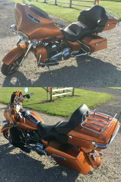 2014 Harley-Davidson Touring Orange for sale craigslist photo