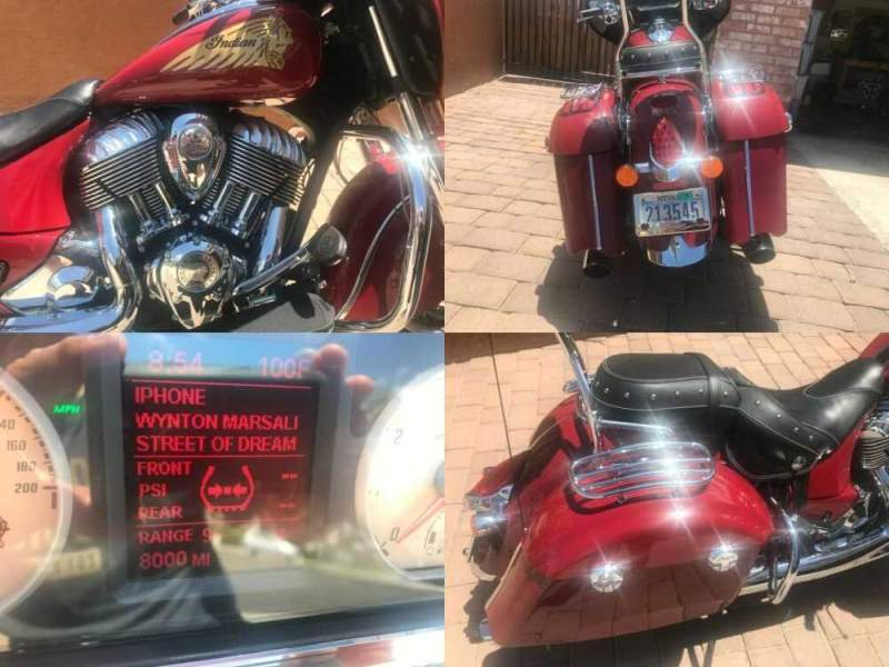 2014 Indian Chieftain Red for sale craigslist photo