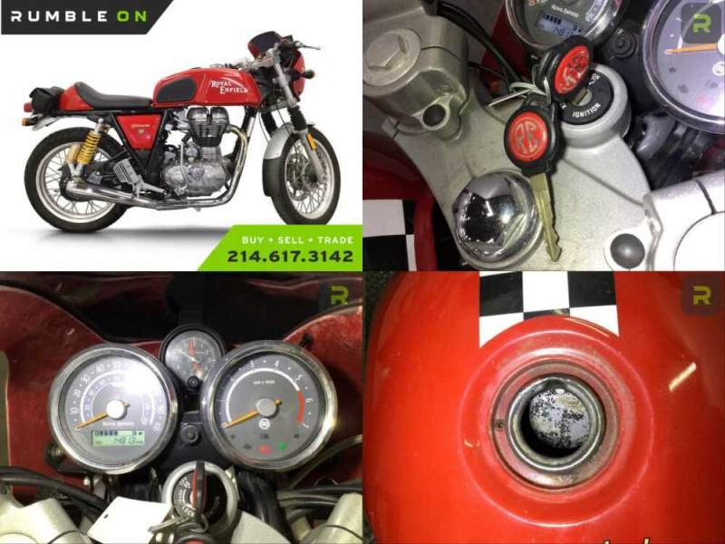 2014 Royal Enfield CONTINENTAL GT CAFE RACER CALL (877) 8-RUMBLE Red for sale craigslist photo