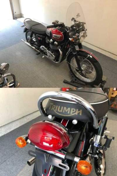 2014 Triumph Bonneville Black for sale craigslist photo