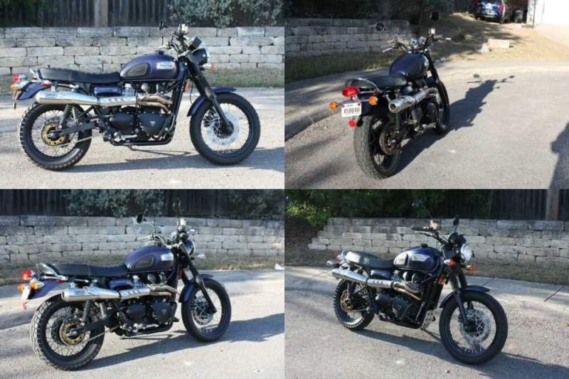 2014 Triumph Scrambler Blue for sale craigslist