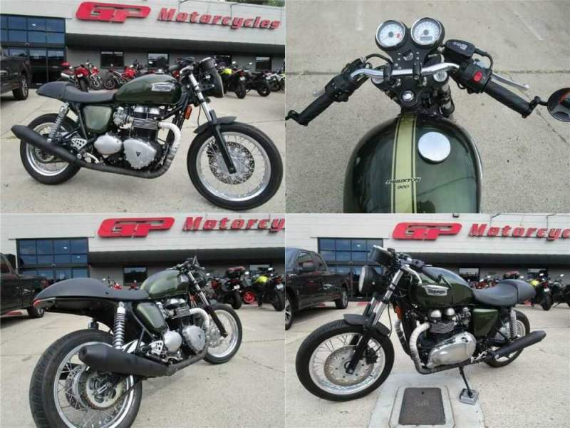 2014 Triumph Thruxton 900 Green for sale craigslist photo