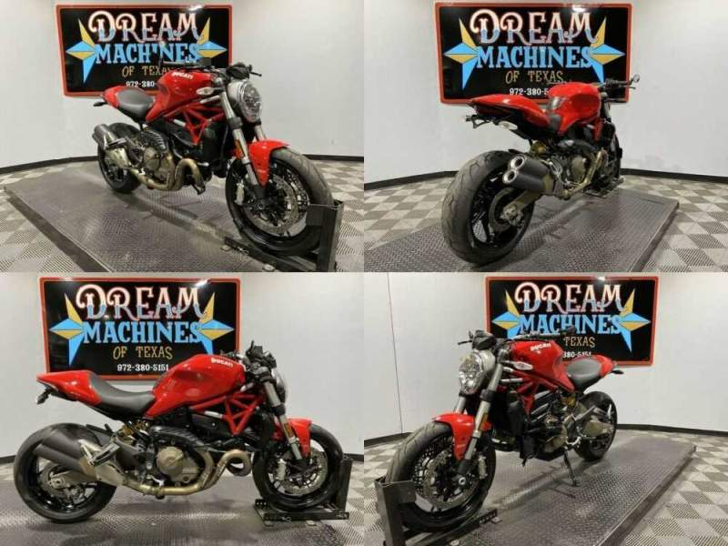 2015 Ducati Monster 821 Red for sale craigslist photo