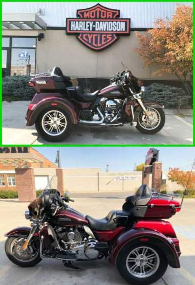 2015 Harley-Davidson Trike Tri Glide® Ultra Mysterious Red & Blackened Cayenne for sale craigslist photo