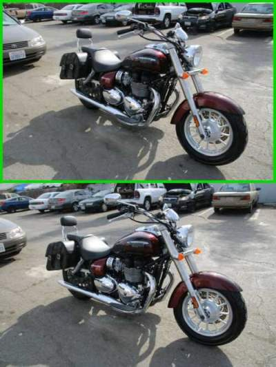 2015 Triumph America Burgundy for sale craigslist photo