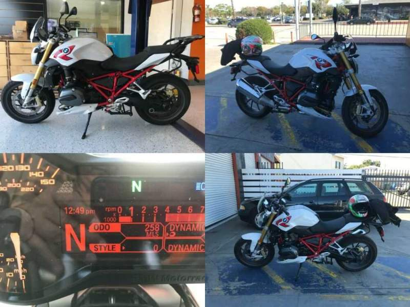 2016 BMW R1200R WHITE/RED for sale