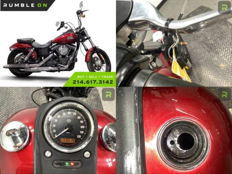 2016 Harley-Davidson Dyna CALL (877) 8-RUMBLE Red for sale craigslist photo