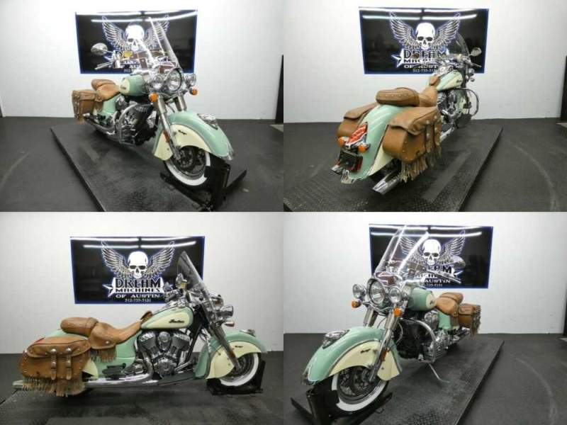 2016 Indian Chief Vintage Willow Green and Ivory Cream Green for sale craigslist