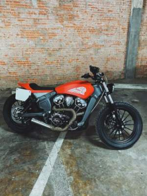 2016 Indian Custom Indian Flat Tracker RSD Hooligan Red for sale