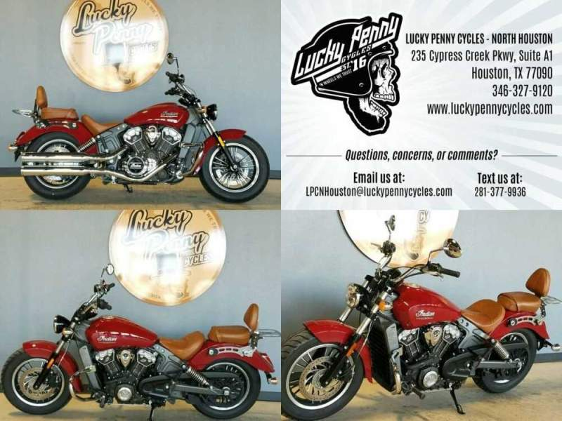 2016 Indian Scout Red for sale craigslist photo