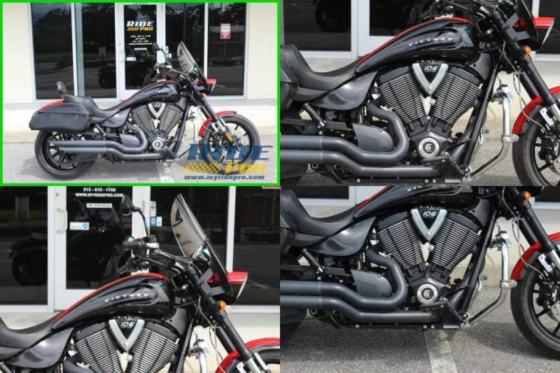 2016 Victory Hammer S Black/Red for sale craigslist photo
