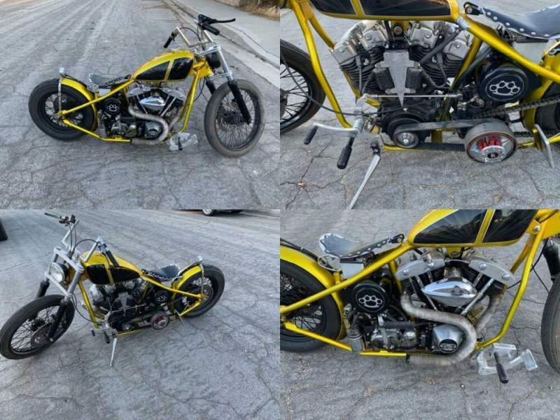 2017 Custom Built Motorcycles Chopper Gold for sale craigslist photo