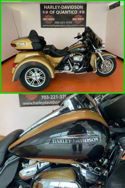 2017 Harley-Davidson Trike Tri Glide Ultra Black Hills Gold / Black Quartz for sale
