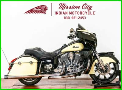 2017 Indian Chieftain Thunder Black Over Ivory Cream Thunder Black Over Ivory C Thunder Black / Ivory Cream for sale