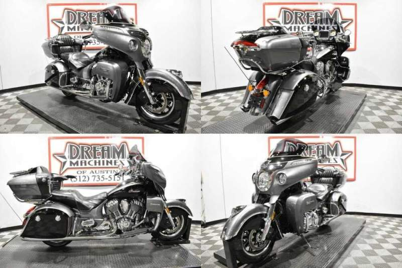 2017 Indian Roadmaster Steel Gray Over Thunder Black Gray for sale craigslist