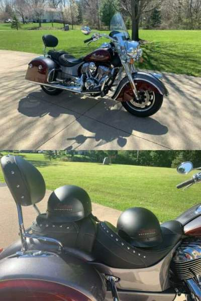2017 Indian SPRINGFIELD Burgundy for sale