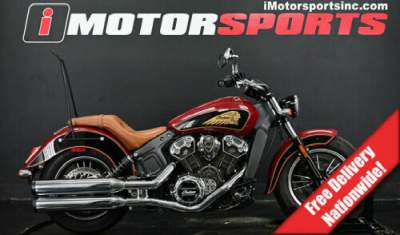 2017 Indian Scout ABS Indian Motorcycle Red Over Thunder Black Red for sale