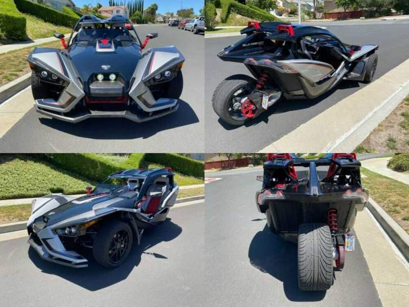 2017 Polaris Slingshot SLR Silver for sale craigslist photo
