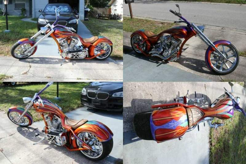 2018 Custom Built Motorcycles Chopper candy with graphics for sale craigslist photo