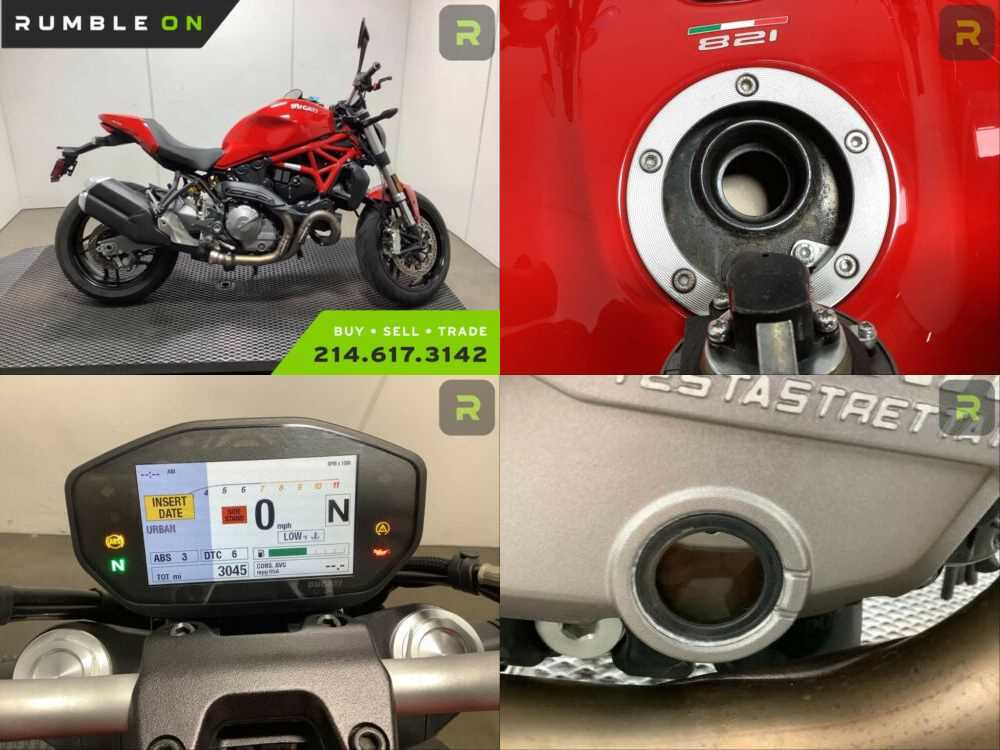 2018 Ducati Monster CALL (877) 8-RUMBLE Red for sale
