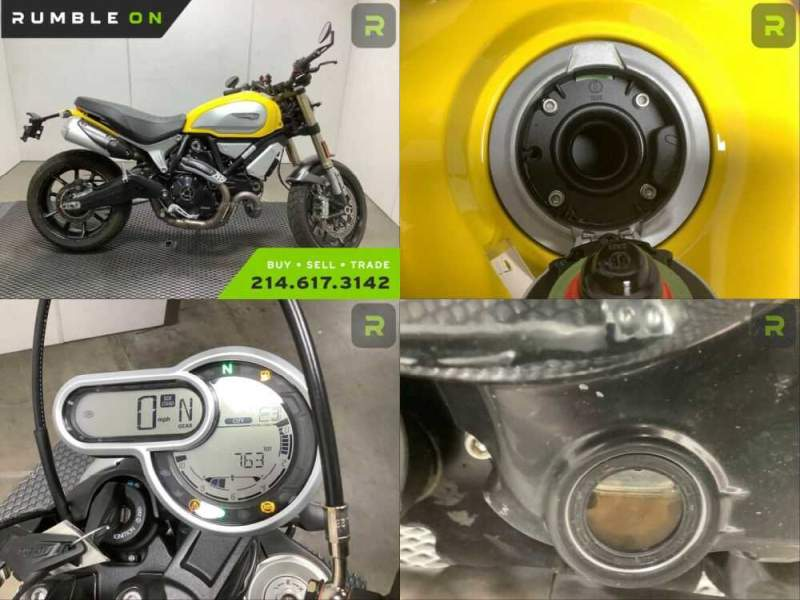 2018 Ducati SCR 1100 ELEVEN (YELLOW) CALL (877) 8-RUMBLE Yellow for sale craigslist photo