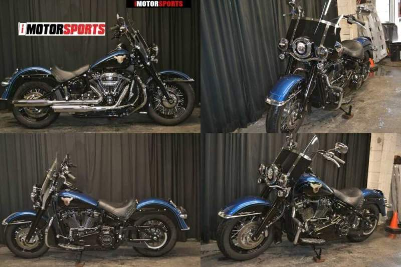 2018 Harley-Davidson FLHCS - Softail Heritage Classic 114 115th Anniver Blue for sale