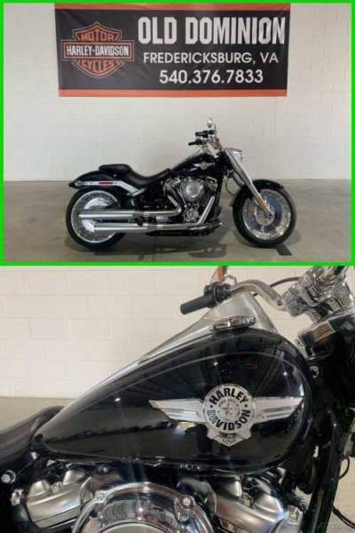 2018 Harley-Davidson Softail Fat Boy 107 Black Tempest for sale craigslist photo
