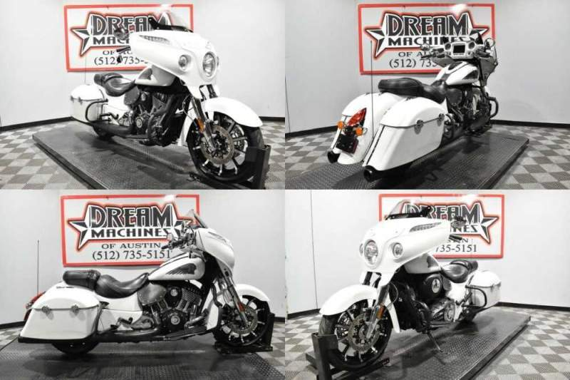 2018 Indian Chieftain Limited ABS White Smoke White for sale craigslist