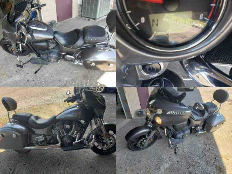 2018 Indian Chiefton Gray for sale craigslist photo