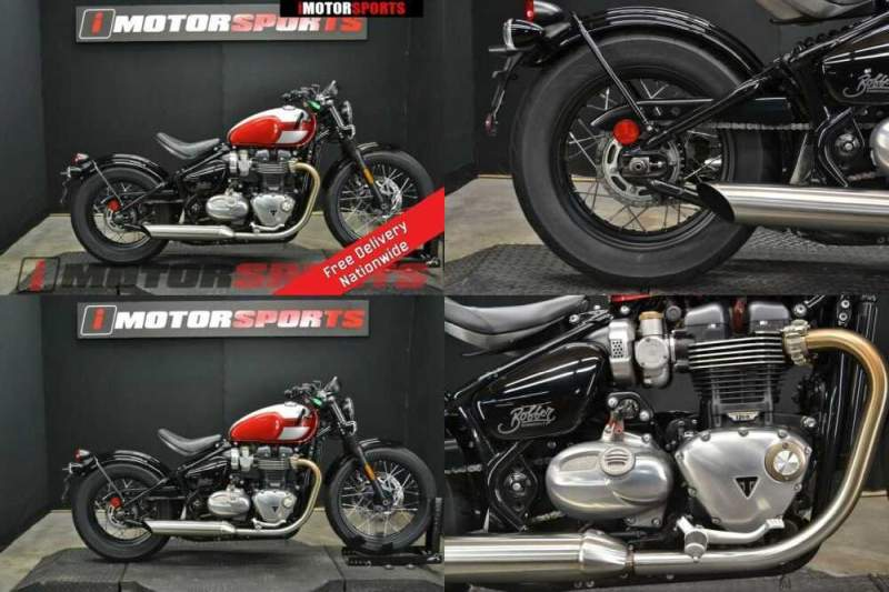 2018 Triumph Bonneville Bobber Cranberry Red / Frozen Silver Red for sale craigslist photo