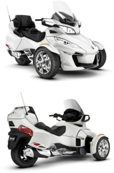 2019 Can-Am Spyder RT Limited Chrome B9KH White for sale craigslist photo
