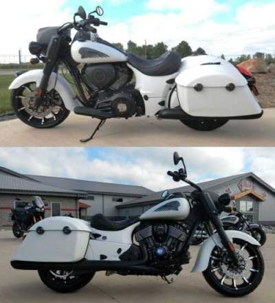 2019 Indian Springfield® Dark Horse® ABS White for sale