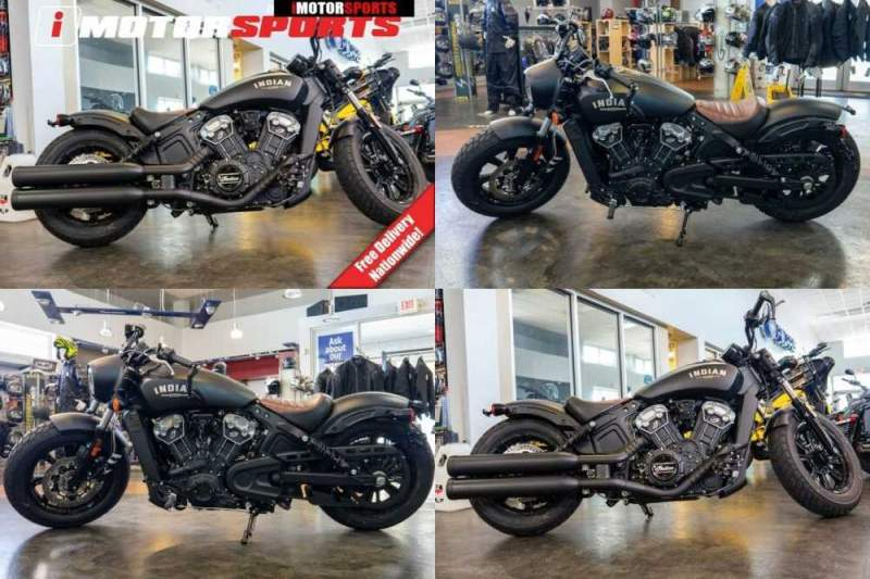 2020 Indian Scout Bobber ABS Thunder Black Smoke Black for sale craigslist photo