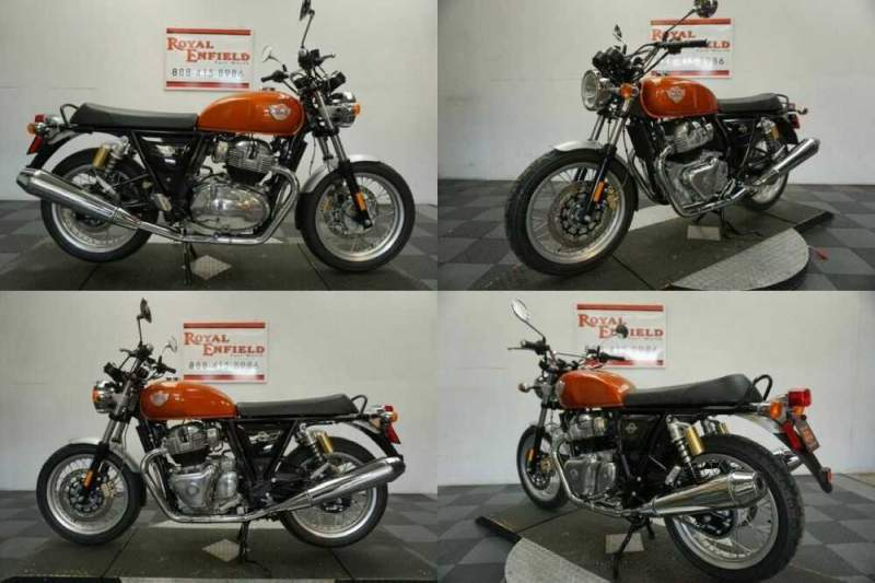 2021 Royal Enfield INT 650 RETRO FUN TO RIDE!!! Orange for sale craigslist photo