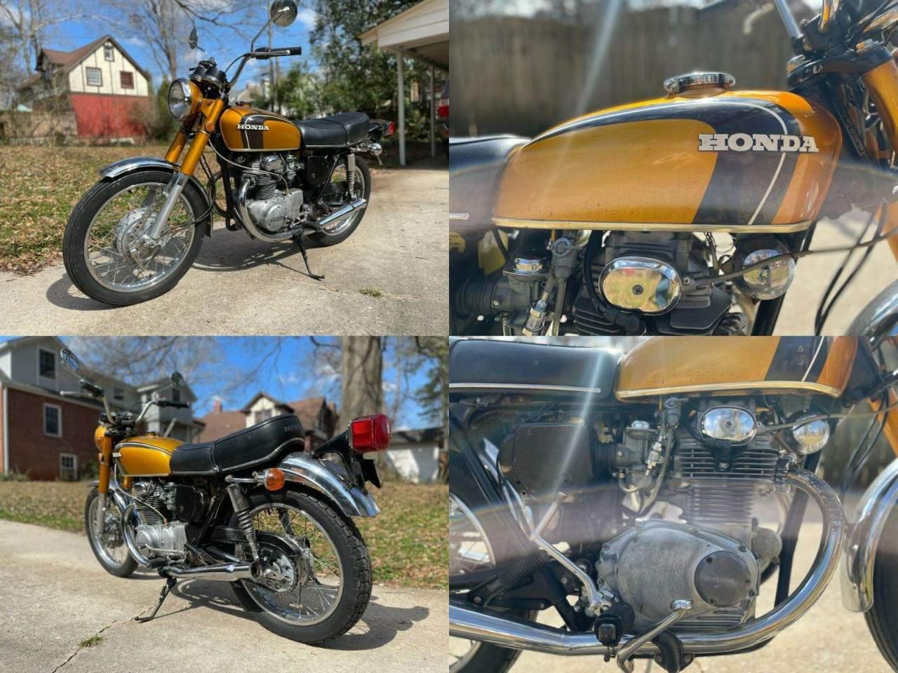 1971 Honda CB Yellow used for sale near me