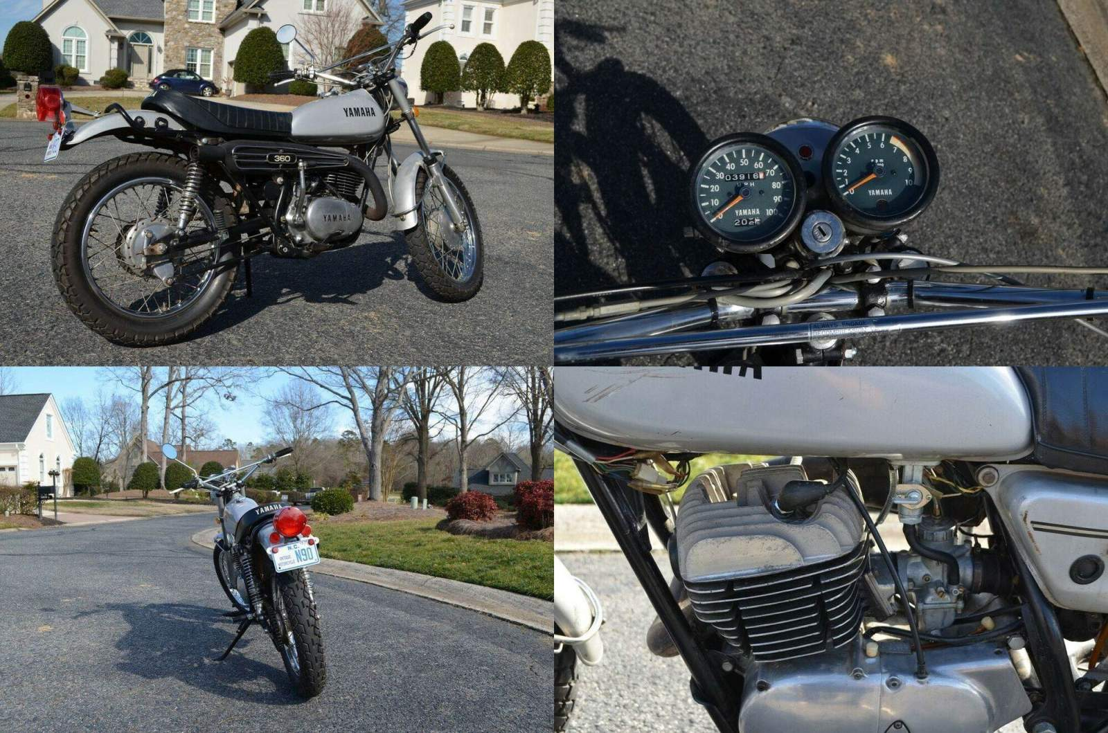 1972 Yamaha RT2 Silver used for sale