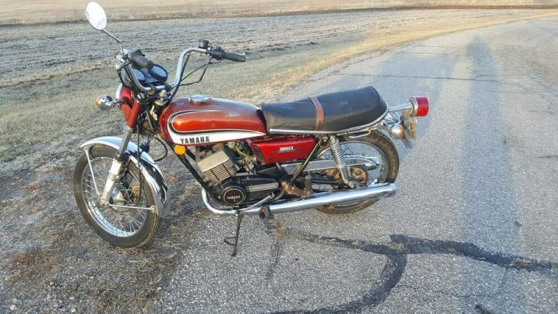1973 Yamaha RD 350 Red used for sale craigslist
