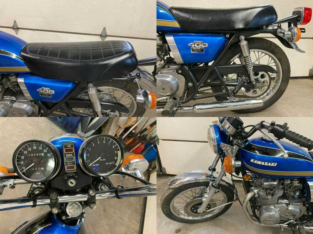 1974 Kawasaki KZ400 Blue used for sale